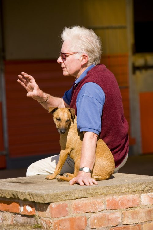 Colin Williams with Dog
