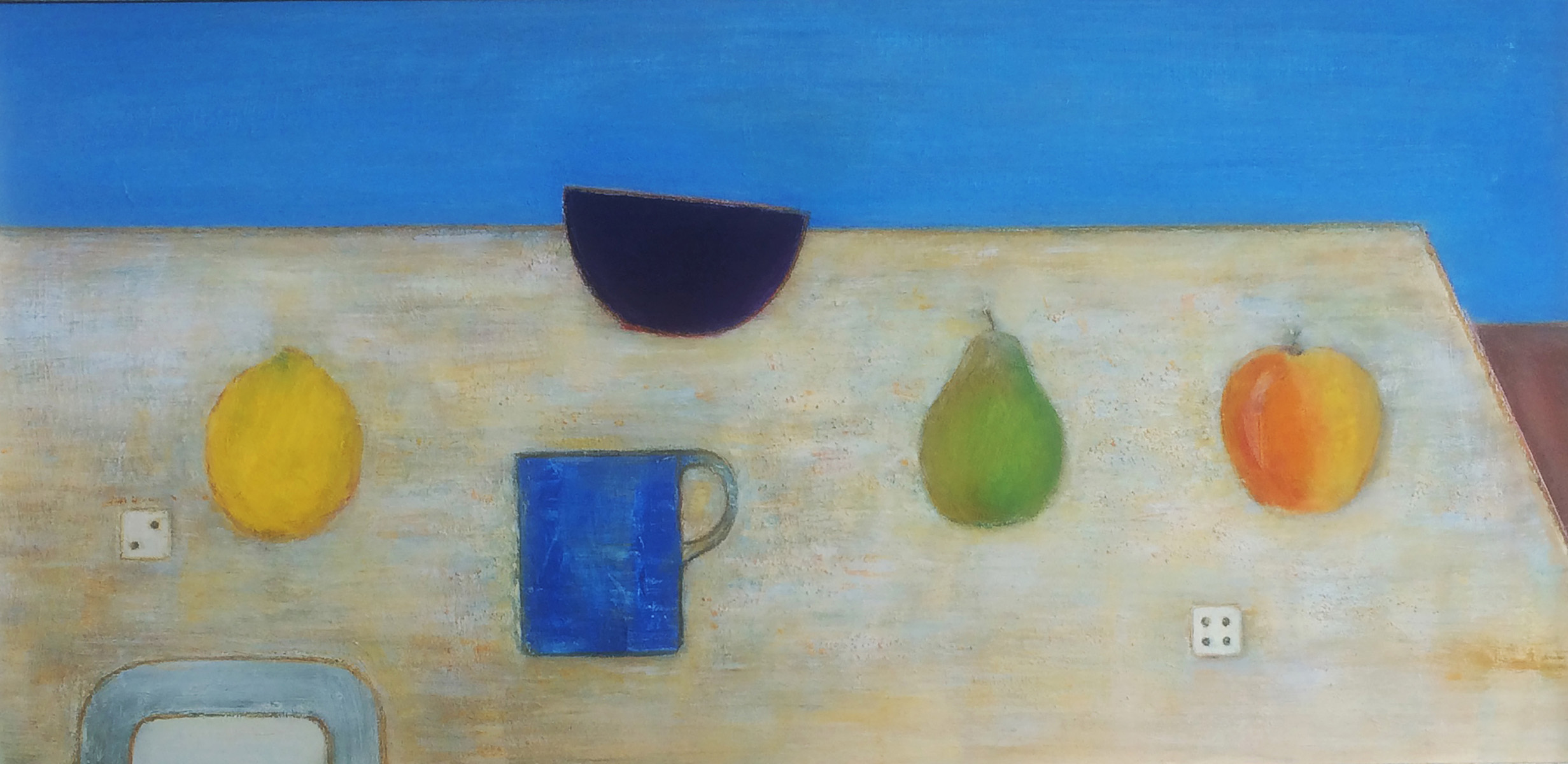 Fruit, Blue Mug