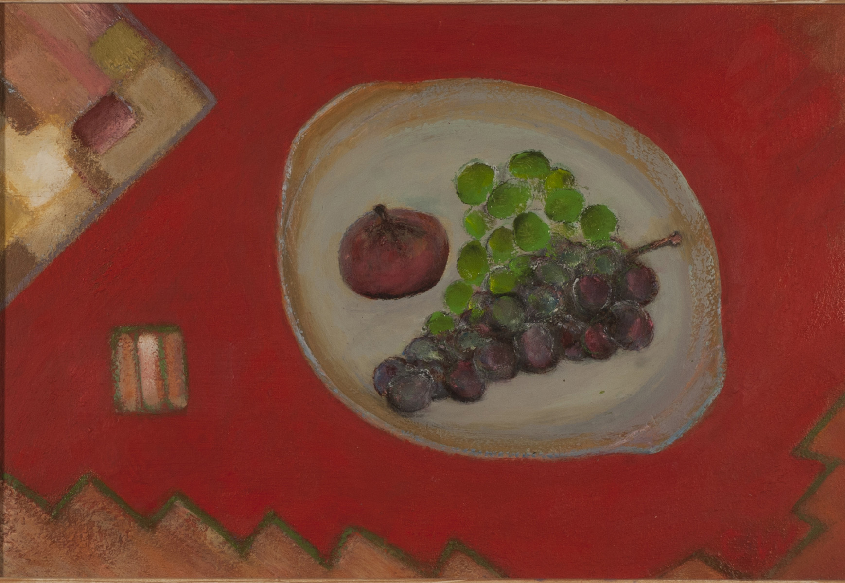 Grapes & Fig on Red