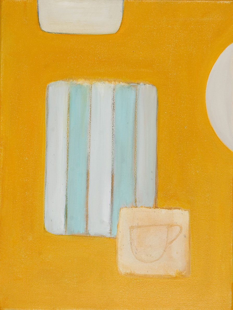 Abstract Cup on Yellow by Colin Williams