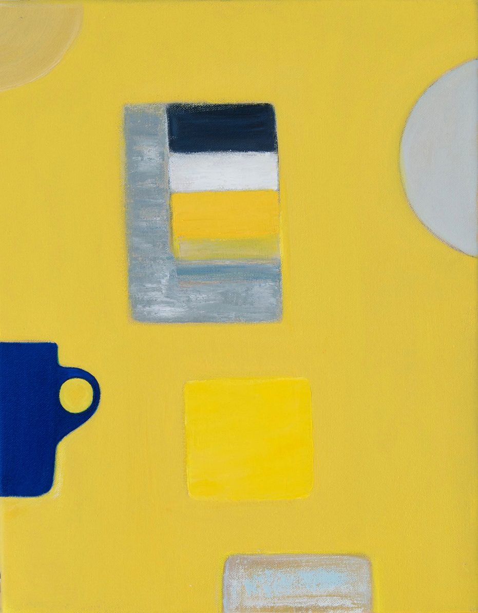 Abstract Mug on Yellow by Colin Williams