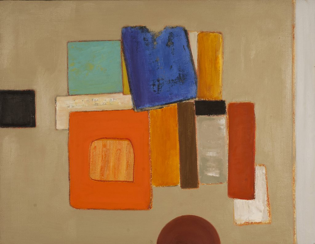 Abstract Orange & Blue by Colin Williams