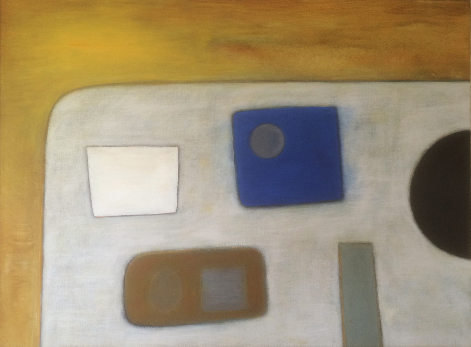 Abstract with Blue Square by Colin Williams