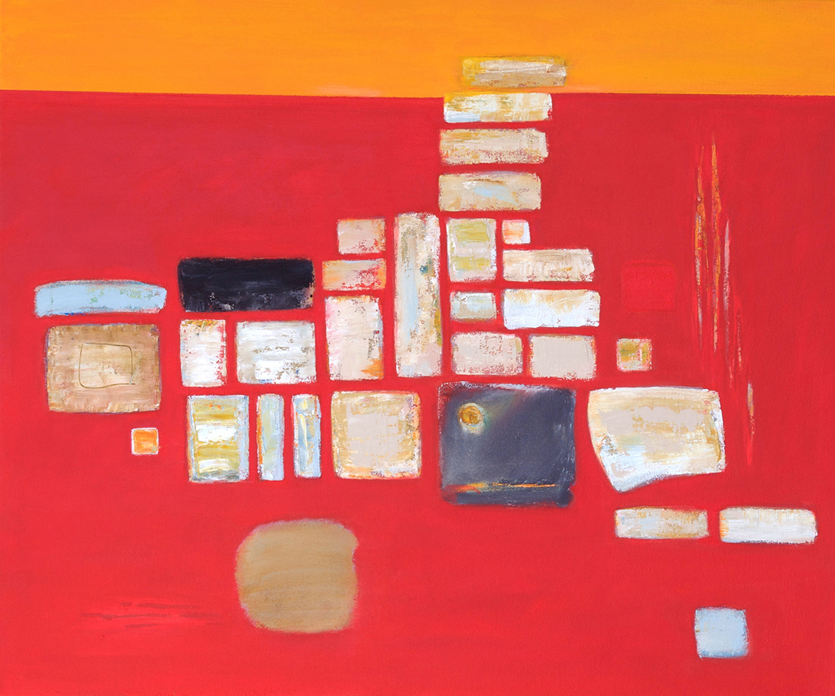 Composition on Red with Orange by Colin Williams