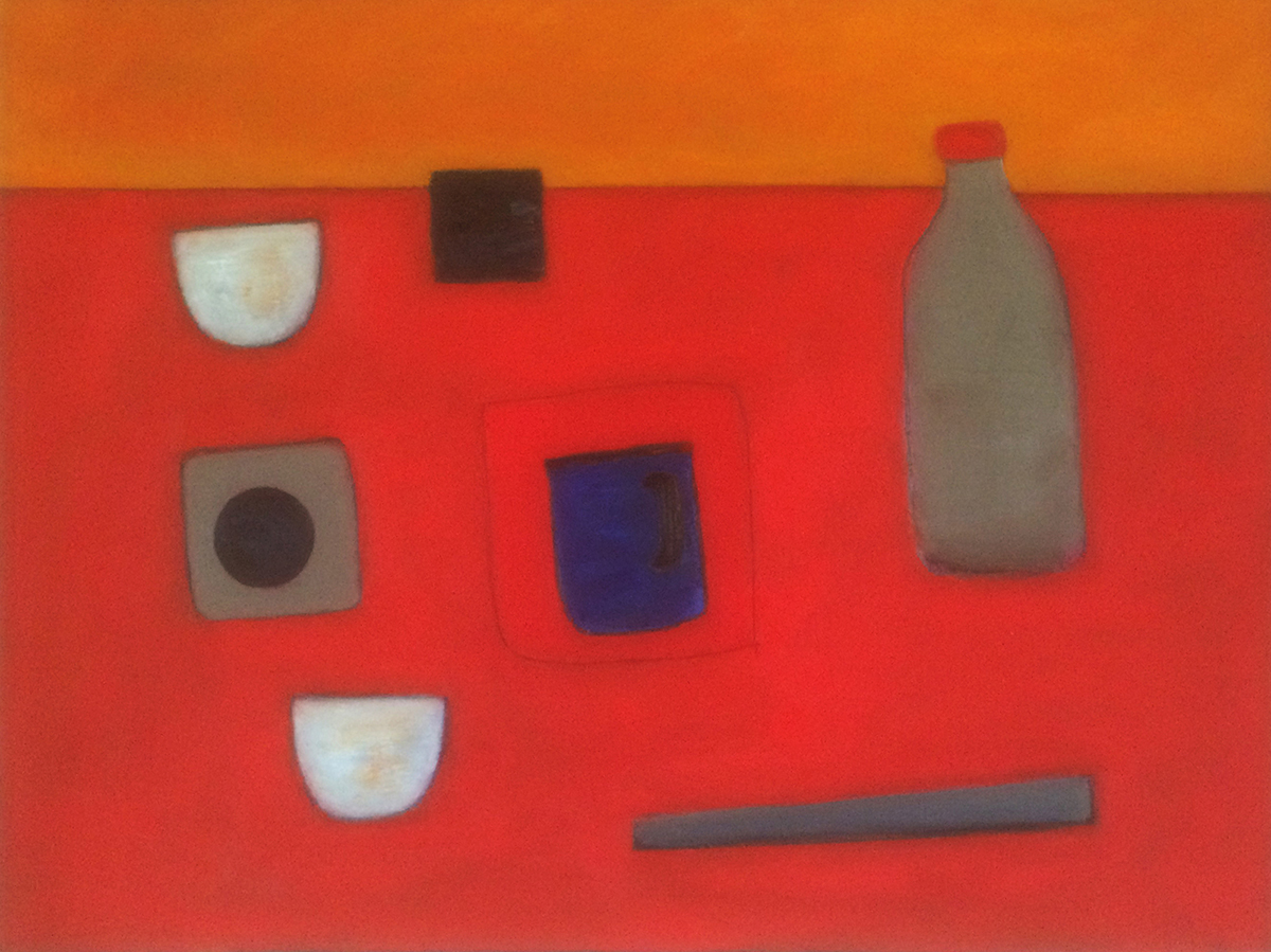 Still Life Abstract on Red by Colin Williams