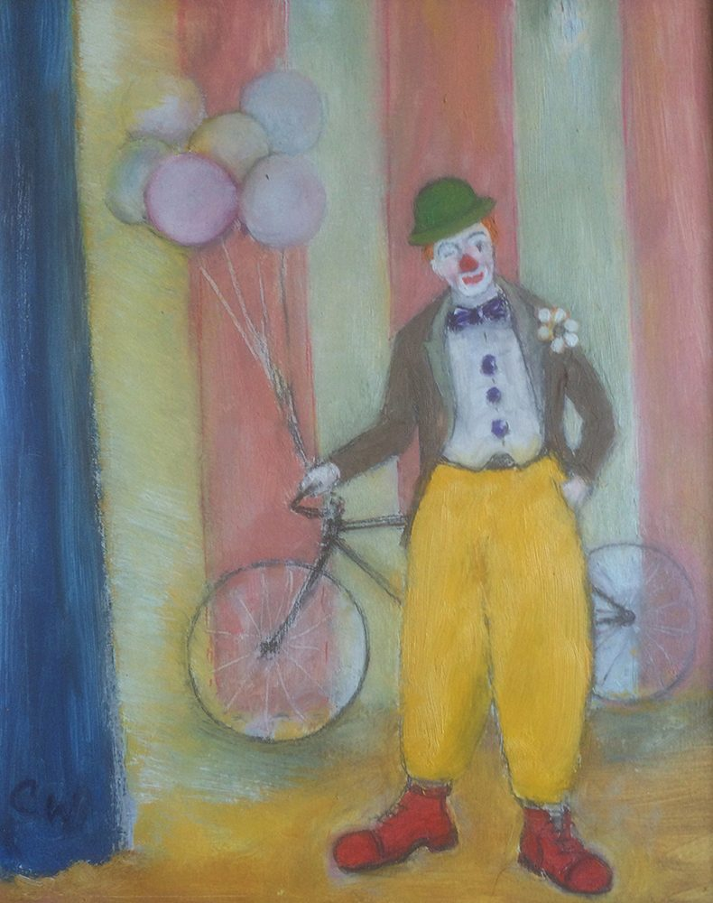 Clown & balloons by Colin Williams