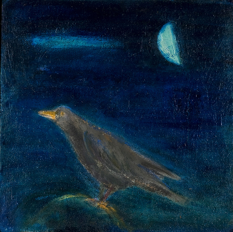 Crow & moon by Colin Williams