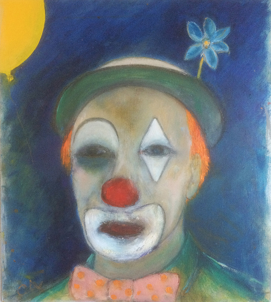 Head of clown by Colin Williams