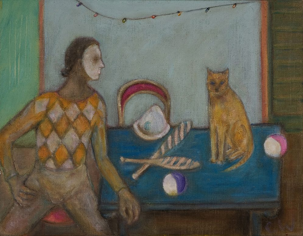 Juggler & cat by Colin Williams