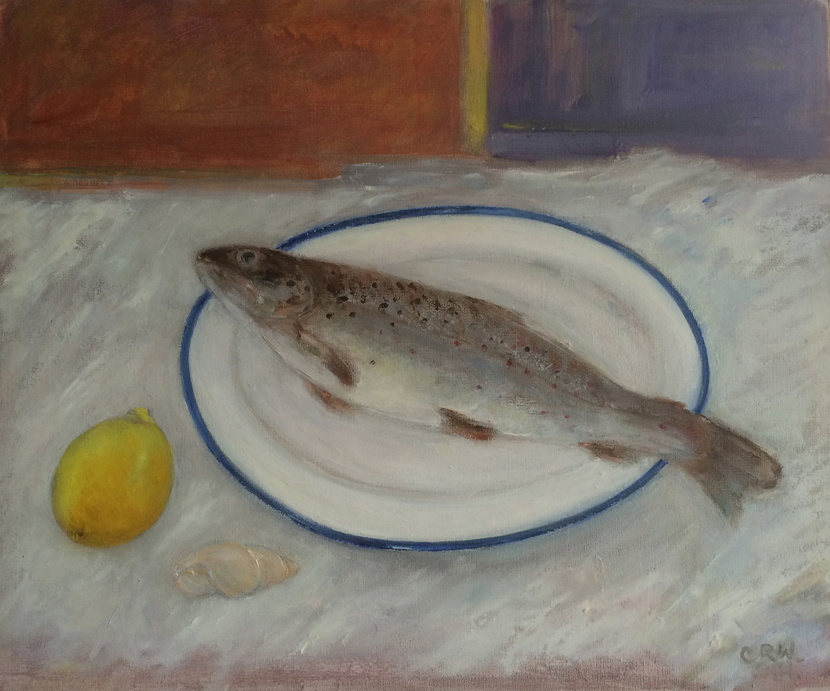 Brown Trout on Lemon by Colin Williams