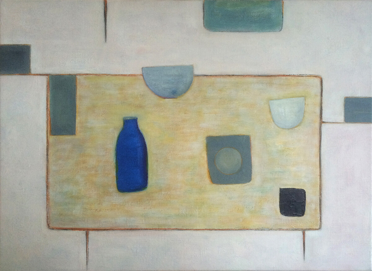Abstract with Blue Bottle by Colin Williams